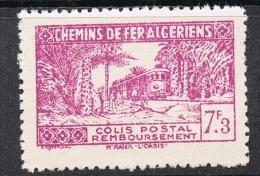 ALGERIE COLIS POSTAL N°153 N*  Variété Sans Surcharge - Algérie (1924-1962)