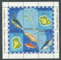 VANUATU  B.F. N° 4  XX  Zone économique : La Pêche, Le Bloc Sans Charnière TB - Vanuatu (1980-...)