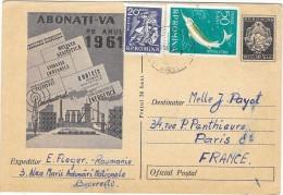 ROUMANIE Carte Entier Postal Abonati Va Pe Anul  1961 - Roumanie