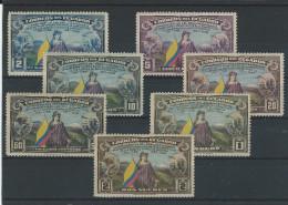 EC - 1938 - 389-395 - 150 JAHRE VERFASSUNG DER USA - MH - * - FALZSPUREN - Equateur