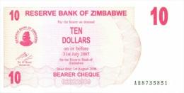 Billet Zimbabwe 10 Dollars NEUF - Zimbabwe