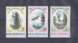 NOUVELLES-HEBRIDES. YT 167/170 Cinquantenaire Du Condominium 1956 Neuf ** - Leggenda Francese