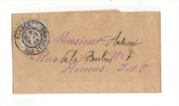 Cachets Type A3 Sur Bande Journal De 1904, De Rennes, Ile Et Vilaine (35) - Manual Postmarks