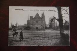 La Guerre 1914 - 1915,TILLOLOY, Ruines De L'Eglise Bombardée - Guerre 1914-18