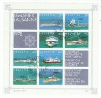 Suisse /Schweiz/Svizzera/Switzerland/ 1978 //FDC  Bloc-feuillet Lemanex 1978 - Blocks & Sheetlets & Panes