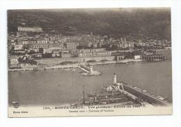 CPA Monaco Monté-Carlo Vue Entrée Du Port - Harbor
