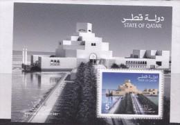 QATAR STATE MINI SHEET ART MUSEUM BUILDING ISLAMIC MUSEUM ON QATAR MNH - Museums