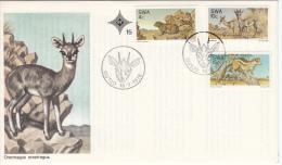 SWA FDC MICHEL 420/22 NATURSCHUTZ - South West Africa (1923-1990)