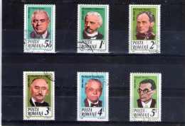 1984 - Roumains Celebres Mi No4108/4113 Et Yv 3547/3552 - 1948-.... Repúblicas