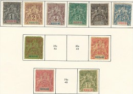 NOSSI-BE 1894 SCOTT 32..44  CATALOGUE VALUE US $67.70 - Neufs