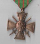 MEDAILLE CROIX DE GUERRE 1914-1916 - France