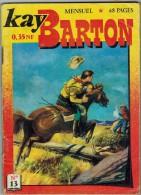 """KAY BARTON N° 13 Ed. IMPERIA Mensuel Mars 1961 """" Chasse à L'Homme 1 ère Partie """" - Petit Format"""