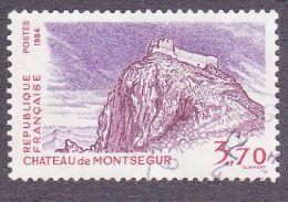 2335 France 1984 Oblitéré  Chateau De Montségur 09 Ariège - Oblitérés