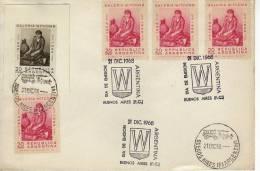 GALERIA  WITCOMB  1968  SOBRE 1ER DIA DE EMISION CON 3 TIMBRES FDC MAS FOTOGRAFIA CON MATASELLO SPECIAL COVER OHL