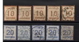 P-183: FRANCE:   Lot  N° 5/6  (5) 1er Et  2ème Choix Obl - Alsazia-Lorena