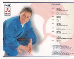 Herinneringskaart Judo:Gella Vandecaveye-Palmares 1993-2001 - Sports De Combat