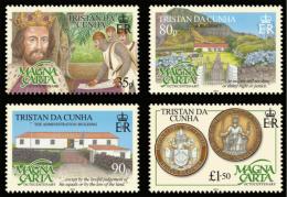 TRISTAN DA CUNHA 2015 - 800e Ann De Magna Carta - 4 Val Neufs // Mnh - Tristan Da Cunha