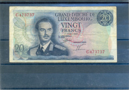 Grand Duche Luxembourg Vingt 20 Francs Nr C473737 - Luxembourg