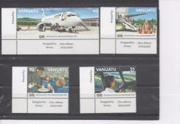VANUATU - Air Vanuatu : 10 Ans - Avion, Pilote Aux Commandes, Service à Bord, Débarquement Des Passagers - - Vanuatu (1980-...)