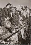 Bus Road Near Hohen Goll, Obersalzberg Germany, Hintereck Cafe Restaurant Stamped On Back, C1950s/60s Vintage Postcard - Berchtesgaden