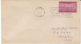 Sc#858 50th Anniversary Statehood Issue, South Dakota Postmark, 1939 Cover - Briefe U. Dokumente