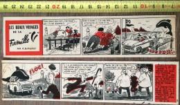 PUB PUBLICITE STRIP LA VESPA 400 LES BEAUX VOYAGES DE LA FAMILLE V PAR BUSSEMEY LE MARSOUIN - Old Paper