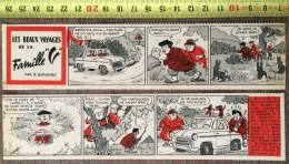 PUB PUBLICITE STRIP LA VESPA 400 LES BEAUX VOYAGES DE LA FAMILLE V PAR BUSSEMEY LE CHASSEUR DE LAPIN - Old Paper