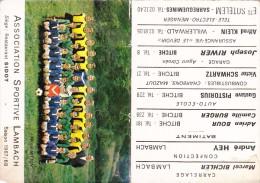 Mini Calendrier, Association Sportive Lambach, Football, Saison 1967 - 1968 - Calendriers