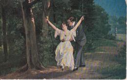 AK Liebesschaukel - H. Hermanns (20910) - Paare