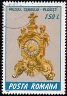 ROMANIA - Scott #3519 French Bronze Clock (*) / Used Stamp - Clocks