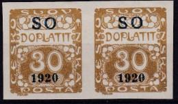 Eastern Silesia 1920 Sc J6 Mint Hinged Pair - Unused Stamps