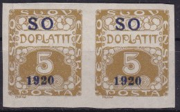 Eastern Silesia 1920 Sc J1 Mint Hinged - Unused Stamps
