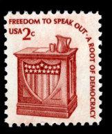 USA, 1977, Americana Series, Speaker´s Stand, Freedom Of Speech, Scott #1582, Dull Gum, MNH, VF - Estados Unidos