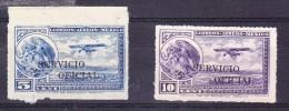 "Mexico 1923 Airmails ""Oficial"" Overprints Roulette - Mexico"