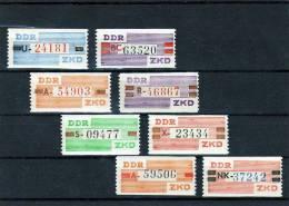 Dienstmarken ZKD Postfrische Ausgabe 1960 Neue Farbe DDR III-X 8xStreifen ** 50€ Rar!!! Complete Service Set Of Germany - Service