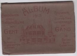 Volledig Zeldzaam Album Wereldtentoonstelling  Gent 1913 Exposition Universelle De Gand - 16 Delig 16 Belles Vues - Gent