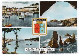 BELLE ILE EN MER--1965--Multivues ,blason, Cpsm 15 X 10  N° 1869 éd CAP--....à Saisir - Belle Ile En Mer