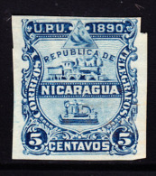 Nicaragua 1890 5 Centavo Imperforate. Scott 22. - Nicaragua