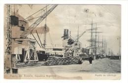 REPUBLICA  ARGENTINA  ( ARGENTINE ) /  PUERTO  DEL  ROSARIO  /  MUELLE  DE  CABOTAGE ( Port ,bateaux, Voiliers, Cargos ) - Argentine