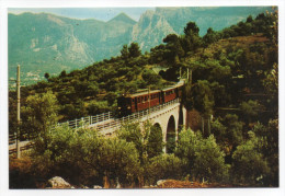 Espagne--Mallorca--SOLLER--Ferrocarril Palma (train Sur Pont) ,cpsm 15 X 10 N°4/73  éd Icaria - Espagne