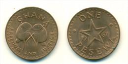 1967 Ghana 1 Pesewa  Coin - Ghana
