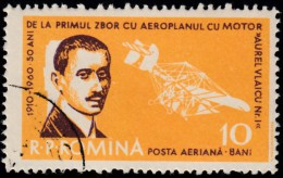ROMANIA - Scott #C79 First Flight Of Aurel Vlaicu, 50th Anniversary (*) / Used Stamp - Airmail
