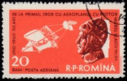 ROMANIA - Scott #C80 First Flight Of Aurel Vlaicu, 50th Anniversary (*) / Used Stamp - Airmail