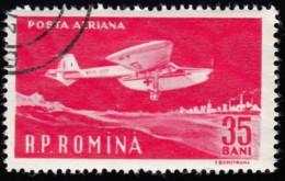 ROMANIA - Scott #C81 First Flight Of Aurel Vlaicu, 50th Annic. (*) / Used Stamp - Airmail