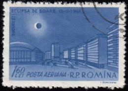 ROMANIA - Scott #C106 Total Solar Eclipse (*) / Used Stamp - Airmail