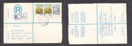 South Africa:  1977  Registered Letter : Franked 19c,BISHOPSGATE 4  > Pretoria - South Africa (1961-...)