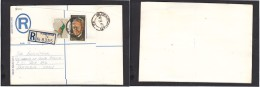 South Africa:  1977 Registered Letter : Franked 19 C, BLOEMFONTEIN 42, LABEL 74, Cover Front Only - South Africa (1961-...)