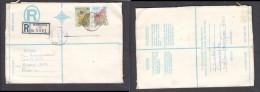 South Africa:  1977 Registered Letter : Franked 19 C, BLOEMFONTEIN 86, LABEL 80 > Pretoria - South Africa (1961-...)