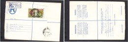 South Africa:  1977 Registered Letter : Franked 19 C, BLOEMFONTEIN 42, LABEL 74 > Pretoria - South Africa (1961-...)