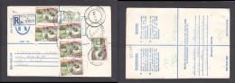 South Africa:  1985 Registered Letter : Franked 79c, BLOEMFONTEIN  LABEL 6 > SALT RIVER - South Africa (1961-...)